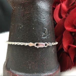"Vintage Jewelry - Sterling Silver Chain Bracelet 7"""